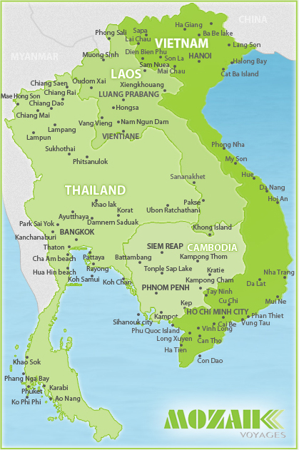 Carte Thailande Cambodge Vietnam.Voyages Vietnam Sur Mesure Voyages Sur Mesure Au Vietnam