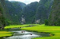 decouverte de la baie d'halong terrestre: Tam Coc - Trang An