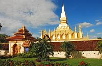 voyages Laos: Panorama du Laos, visite that luang Stupa
